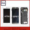 100% original para samsung galaxy note 2 n7100 lcd digitador assembléia com moldura cinza e branco, frete grátis
