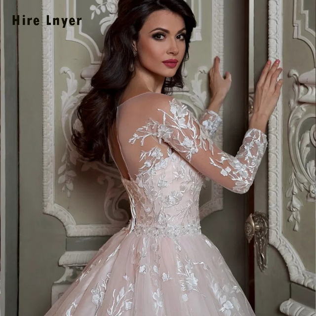 Robe De Mariee Princesse De Luxe Shiny Beading Crystal Waist Luxury Lace Ball Gown Wedding Dresses Alibaba Online Shopping 4