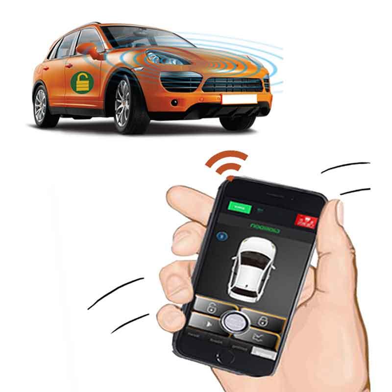 Alarme de voiture verrouillage centralisé avec démarrage à distance et alarme démarrage à distance pour démarrage par camion arrêt démarrage moteur alarma autom vil universel