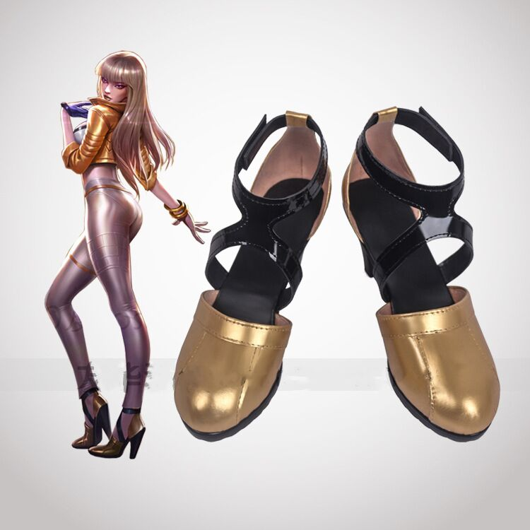 Game KDA KAISA Cosplay Shoes KAISA Cosplay Women Shoes Game K/DA KAISA Cos High-Heeled Shoes 7CM