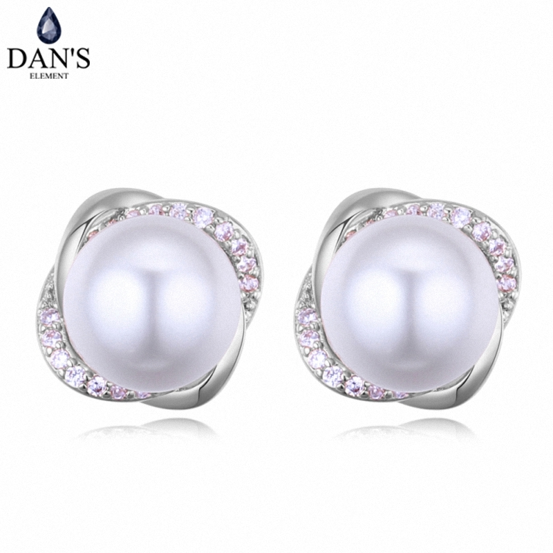 DANS 3 Colors Real Austrian crystals Stud earrings for women Earrings s New Sale Hot Round 128656