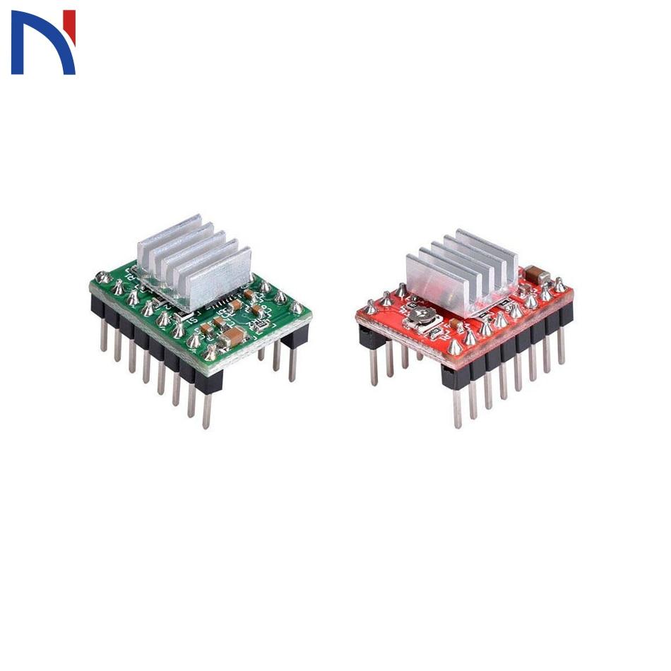 Stepper Motor Driver A4988 Reprap Stepper Driver Green Red Module with Heatsink For 3D Printer Parts Ramps 1.4 Reprap Board