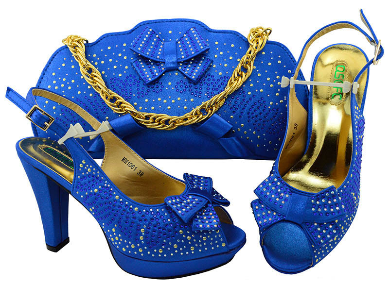 QSGFC New 2018 African Design Royal blue Shoes And matching Bags Italian Style High Heels Shoes And Bag Set For Party Shoes+bagQSGFC New 2018 African Design Royal blue Shoes And matching Bags Italian Style High Heels Shoes And Bag Set For Party Shoes+bag