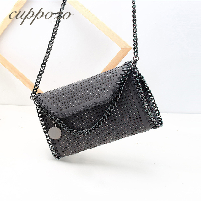 5a6f52e18382 Cuppozo 2018 Fashion Clutch Rivet Lady Bags Autumn And Winter Shoulder Bags  For Women New Products Diagonal Chain Packet