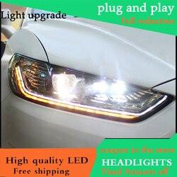 Car styling Testa Della Lampada Per Ford Mondeo Per Fusion 2013 2014 2015 Fari A LED Faro DRL Doppia Lente Fascio Bi-Xenon HID