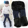 Pants With Fleece Children Winter Pants Girl Kids Girls Leggings Winter Warm Leggings Girl Teen Kids Trousers D48
