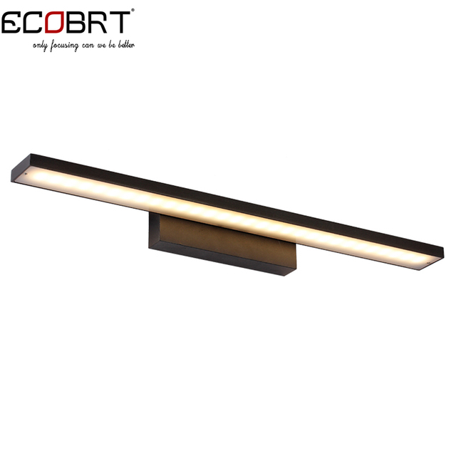 12W led Black Wall Lamps in bathroom Over mirror Sconces lights AC85-265V 2835 energy saving aluminum wall lighting led