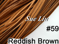 10pcs 3mmx1.5mm Reddish Brown Flat Faux Suede Velvet Leather Cord -1M/pcs NCS27-59
