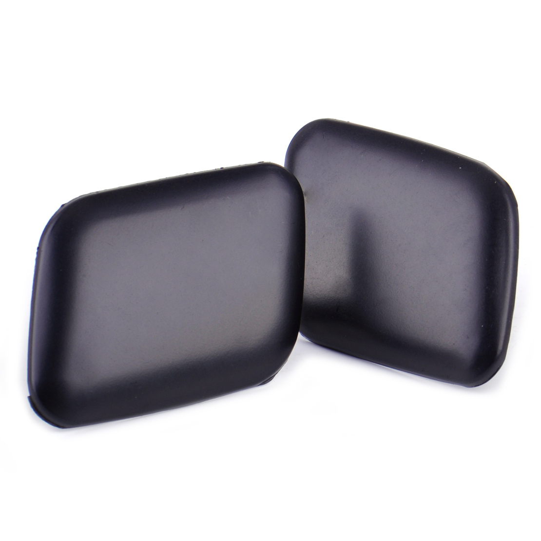 DWCX 2x Car Matte Black Front Bumper Headlight Washer Cover Cap 4B0955275 / 4B0955276 for <font><b>Audi</b></font> <font><b>A6</b></font> C5 1998 1999 2000 2001 <font><b>2002</b></font> image