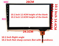 For 10.1 Inch GT928 Touch Glass Left Side Touch Android GT928 12 Line 6 Line 14.4*14.5CM Navigation Touch Screen Pannel Glass