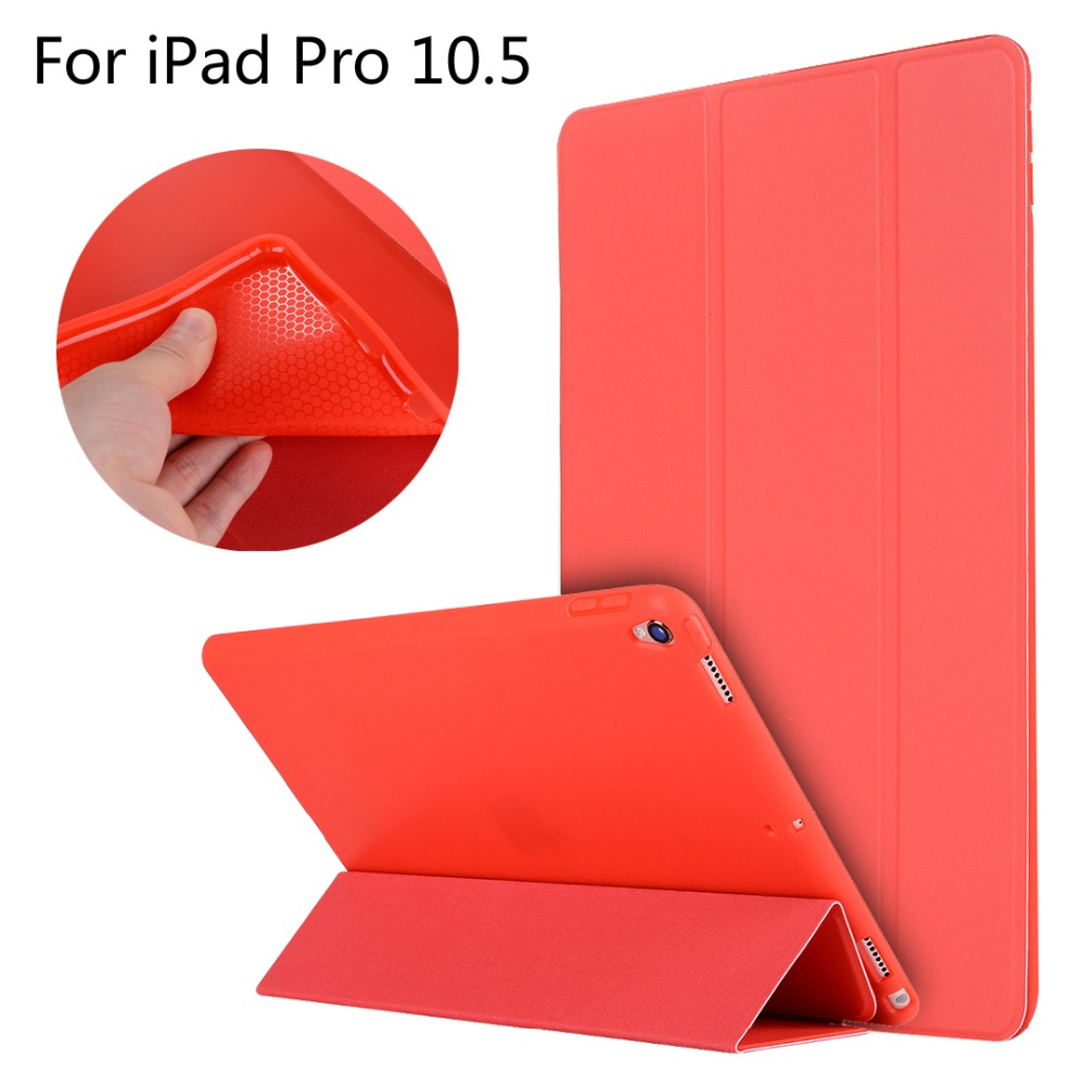 For iPad Pro 10.5 inch table High-quality case Cover Smart Slim Magnetic TPU Leather Stand Cases + Film + Stylus nice soft silicone back magnetic smart pu leather case for apple 2017 ipad air 1 cover new slim thin flip tpu protective case