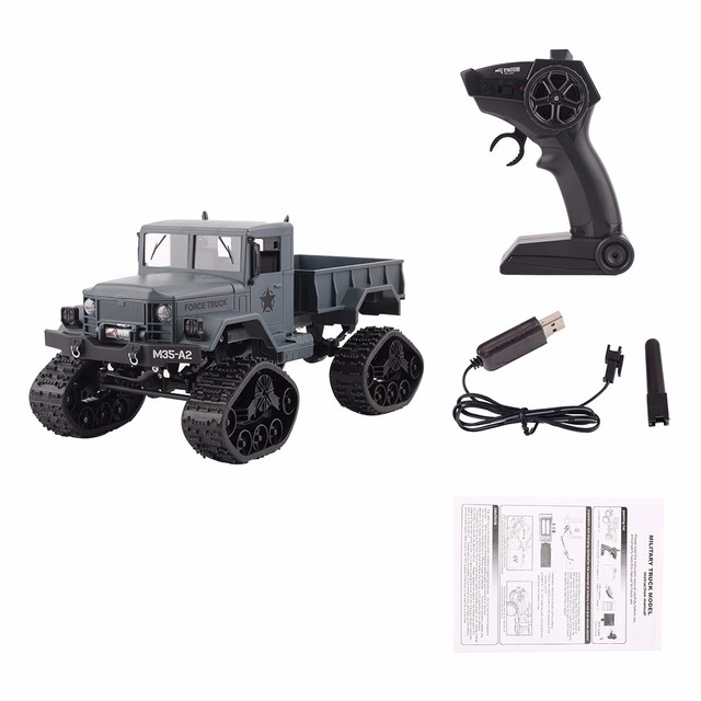 Off-Road Climbing Auto Toy Car Remote Control 1:16 Military Truck 4 Wheel Drive RC Car Educational Toys for Children