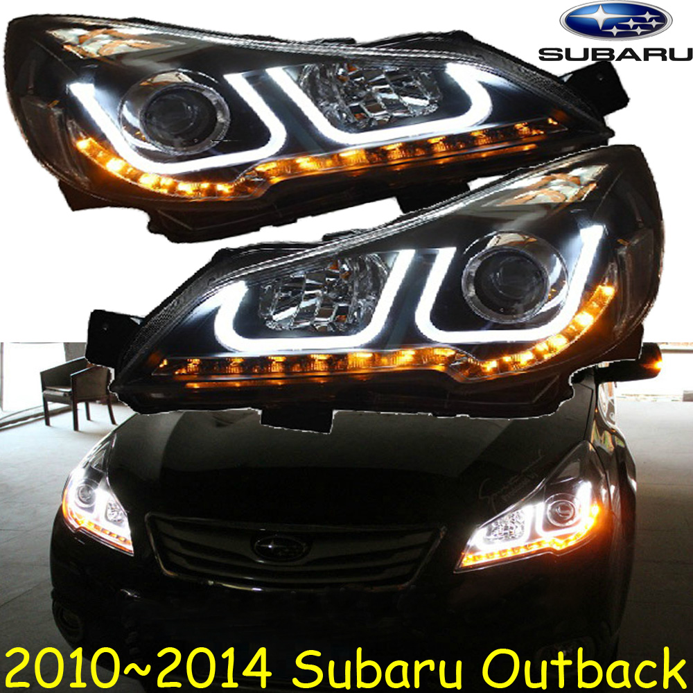 Car styling outback headlight 2010 2014 free ship outback fog