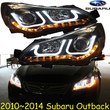 Outback headlight,2010~2014,Free ship!Outback fog light,2ps/se+2pcs canbus Ballast,Outback