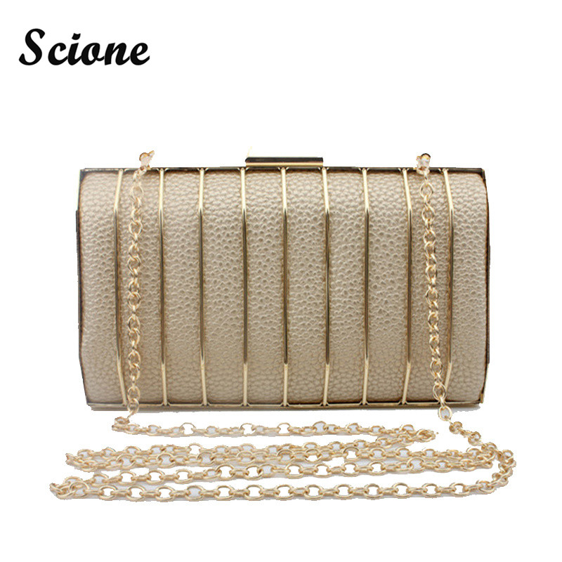 PU Leather Clutch Bags Women Party Shoulder Bag 2017 Bridal Handbag Clutch Purse Gold/Silver/Black Clutches for Woman  luxury gold silver evening purse women pink pu leather pearl hand bag chain shoulder clutch bags handbag bolso handtassen xa841h