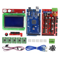 New 3D Printer Kit Mega 2560 R3 1pcs RAMPS 1 4 Controller 5pcs A4988 Stepper Driver