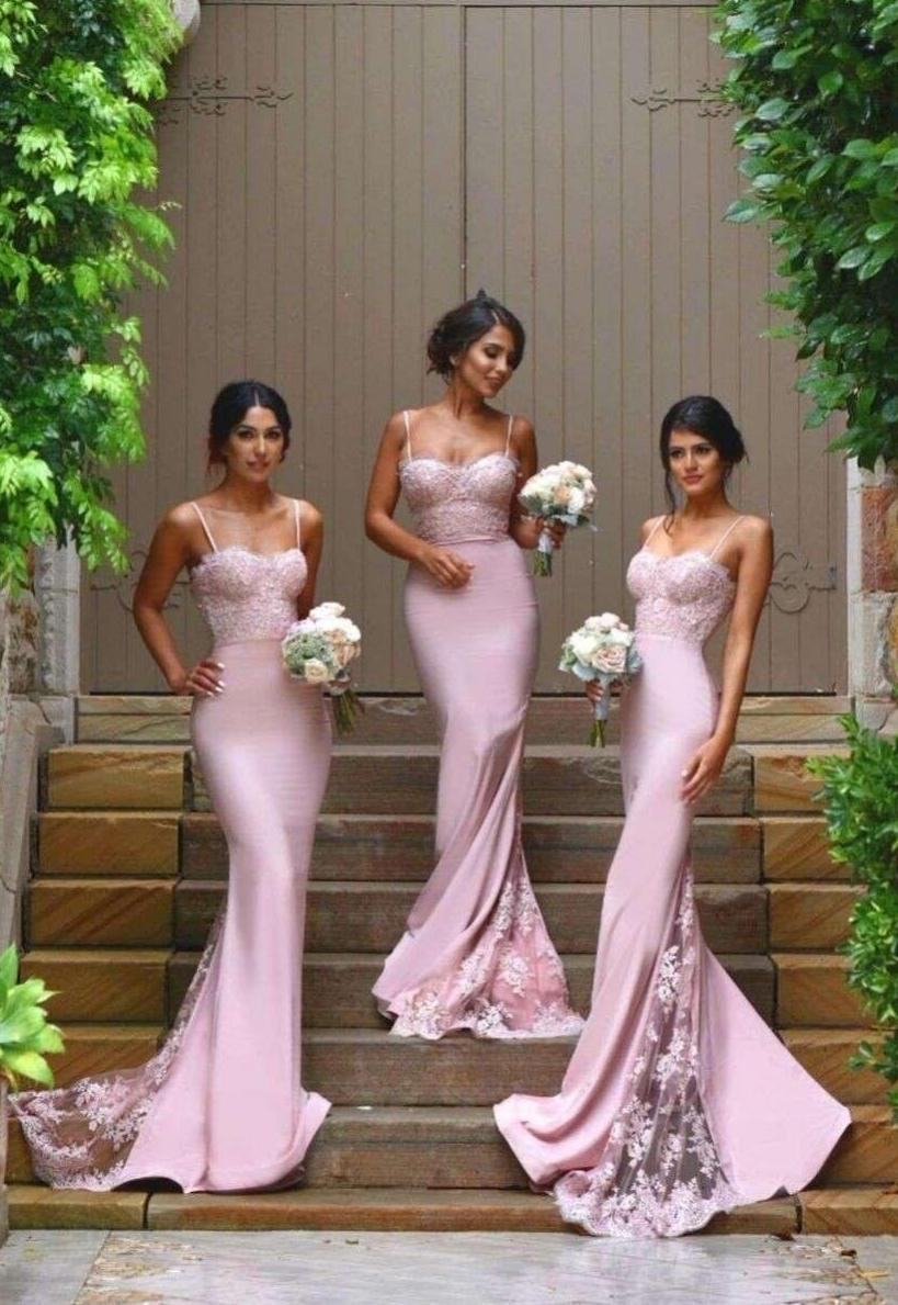 Online get cheap summer pink bridesmaid dress aliexpress cheap new pink sexy bridesmaid dresses spaghetti straps sweetheart lace appliques backless wedding party lavender summer dress ombrellifo Images