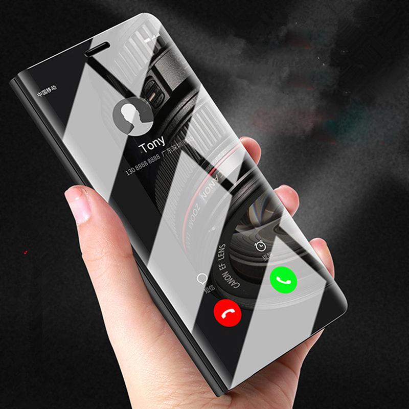 Smart Mirror Flip Cover For Samsung Galaxy A21S A01 A51 A71 S20 Ultra Plus J5 J7 Prime J2 A70 A50 J3 2017 J5 J7 Full Phone Cases
