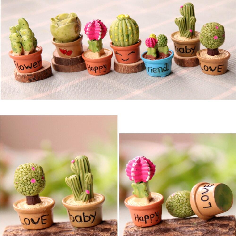 5pcs Dollhouse Miniature Resin Cactus DIY Plants Decoration Toys