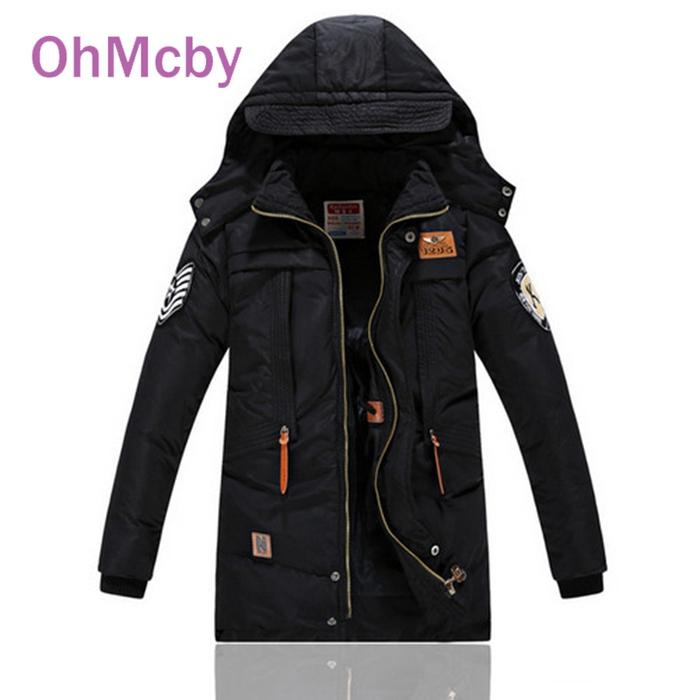 ФОТО New Cotton-padded Children's Clothing Big Boys Warm Winter Down Coat Thickening Outerwear -30 Degree Children's Winter Jackets