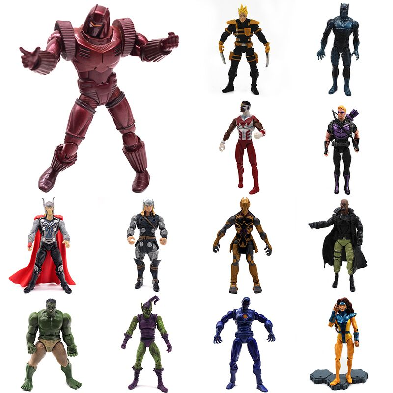 Limited Edition Iron Man The Avengers Marvel Action Figure PVC Toy Movable Super Hero Comic Toys for Children Gift Hawkeye Hulk free shipping 10 the avengers super hero hulk bag packed 26cm pvc action figure collection model doll toys gift 2 color