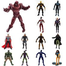Limited Edition Iron Man The Avengers Marvel Action Figure PVC Toy Movable Super Hero Comic Toys for Children Gift Hawkeye Hulk