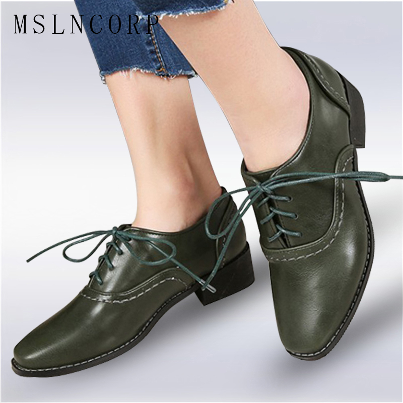 size 34-43 Spring Autumn Soft Leather Oxford Shoes Women Flats New Fashion Lace Up Casual Moccasins Loafers Ladies zapatos mujer 2017 fujin new oxford shoes women spring autumn split leather oxford shoes flats shoes woman ladies shoes lace up