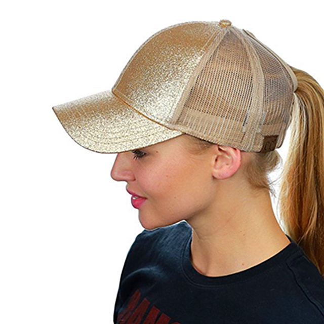 9422bad3de2 Sport Caps Women New 2018 CC Glitter Ponytail Baseball Cap Women Snapback  Hat Summer Running Cap Sport Hats Adjustable Sport Hat
