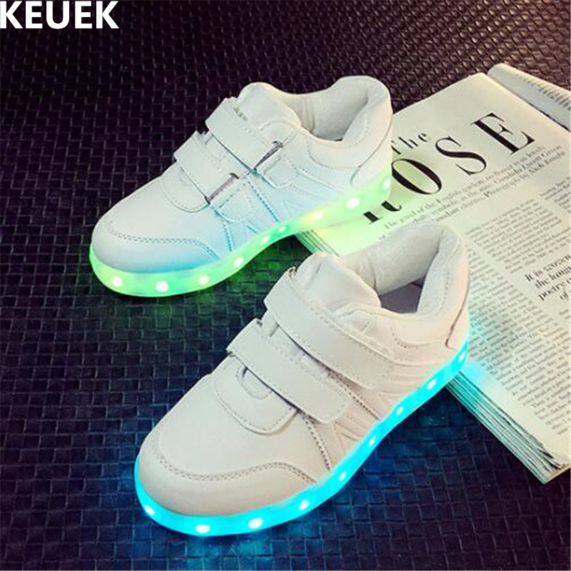 New Children Glowing Shoes Boys Girls USB Charging Light Shoes Baby Student LED Lighted Sneakers Kids Luminous Flats 04 new boys children luminous shoes sneakers with lighted led casual girls glowing sneakers kids shoes