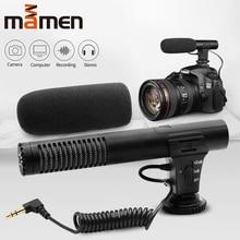 MAMEN 3,5mm Audio Stecker Professionelle Aufnahme Mikrofon Condensador Für Kamera DSLR Digital Video Camcorder VLOG Microfone