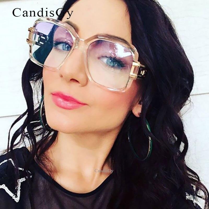 7f64d60a9d416 Clássico Homens Marca de Designer de óculos de Sol Claro Quente Do Sexo Feminino  Quadrado Transparente Mulheres Super star Luxo Óculos de Sol Oculos de sol