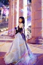 Бесплатная доставка На Заказ высокого qualtity сейлор мун Serenity Tsukino Усаги фиолетовый платье принцессы косплей костюм