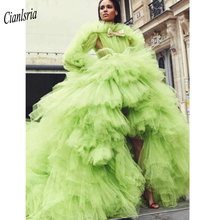 Cianlsria Evening Dress Gowns Long Sleeve Party Dresses