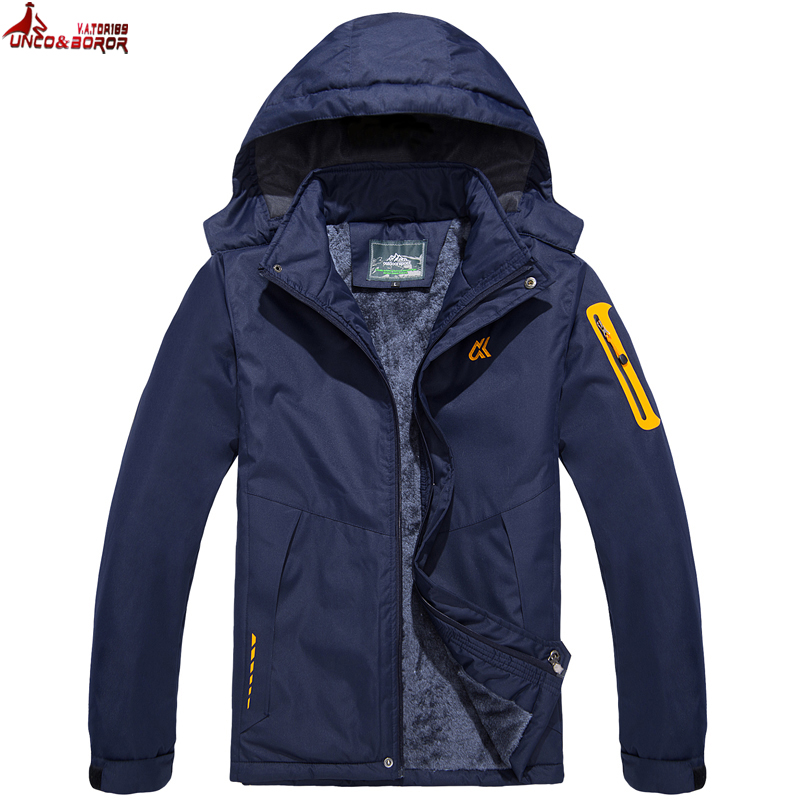 UNCO&BOROR plus size M~6XL 7XL new Warm Outwear Winter Jacket Men Windproof waterproof Hood women Jacket Warm Men   Parkas   coat