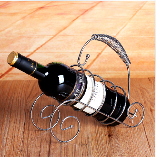 Wine Holder Stainless Steel Cane Wrought Iron Wine Frame Twisting