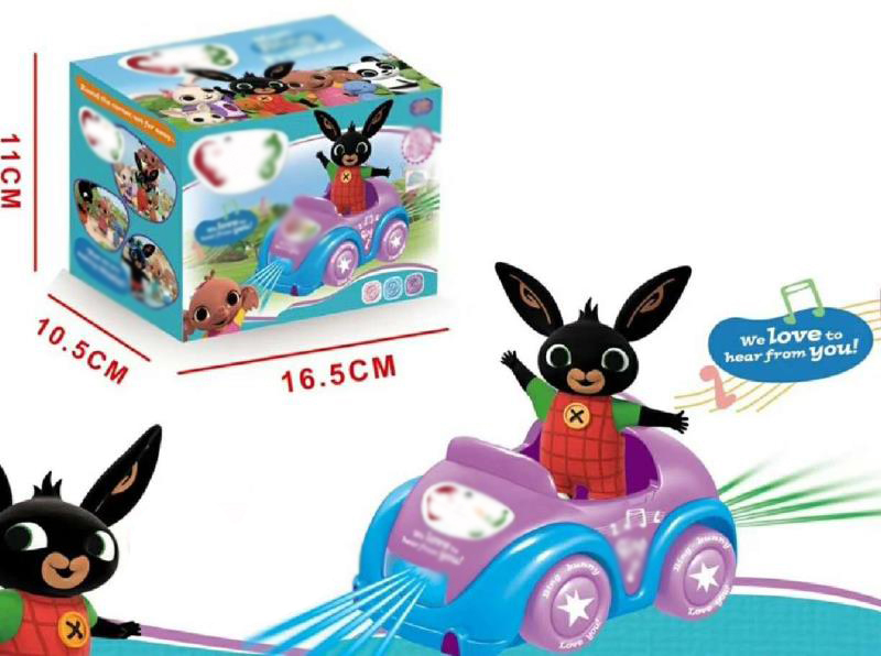 Bing Bunny Figure Car Light With Sound Children Gift