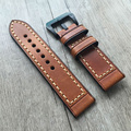 20MM 22MM 24MM 26MM Italian Calfskin Leather Strap, Retro Classic Men Women Watchband Belt For Pam And Big Pilot Watch