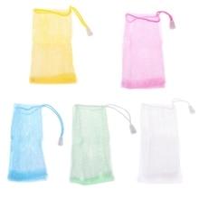 5Pcs body massage for bath Practical Compact Exfoliating Soap Saver Mesh Pouches Bath Shower Bag