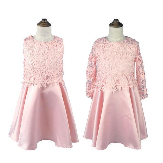 Designer Pink Lace Flower Girl Dress Maxi Wedding Dresses For Kids Boutique Gowns Uk