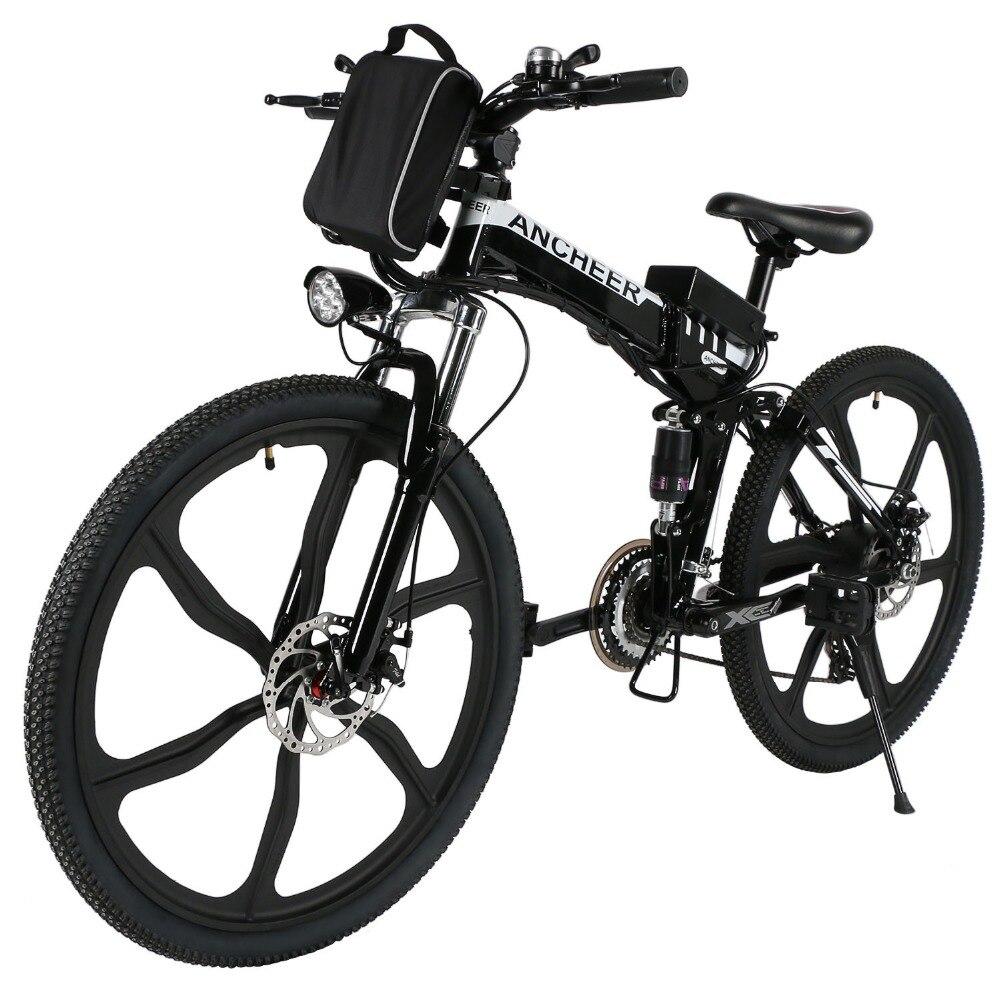 Noir E vélo nouvelle marque 26 pouces un siège vélo électrique pliant Bicicleta Electrica montagne vélo électrique EU/UK Plug