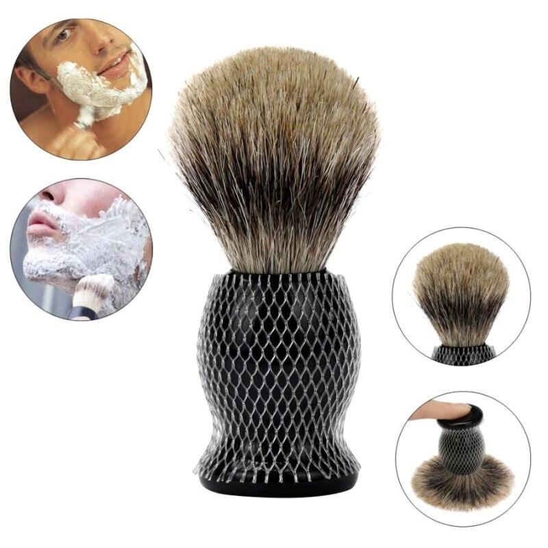 1PCS Men Beauty Makeup Shaving Brush Pure Badger Hair Shaving Brush Resin Handle Best Shave Barber