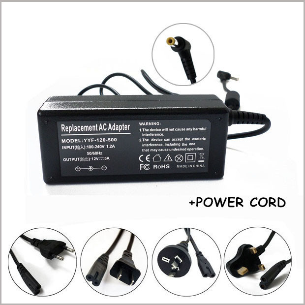 NEW <font><b>12</b></font> Volt DC <font><b>Power</b></font> <font><b>Supply</b></font> 5 <font><b>Amp</b></font> 5A <font><b>12V</b></font> Adapter LCD CB PSA31U 120 For HP F1044B image
