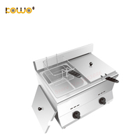 commerical double tank gas deep fryers 11L capacity