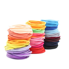 100Pcs/Lot Size 5cm Girl Thin Ponytail Hair Holder Accessories Elastic Rubber Band For Women Candy Color Tie Gum