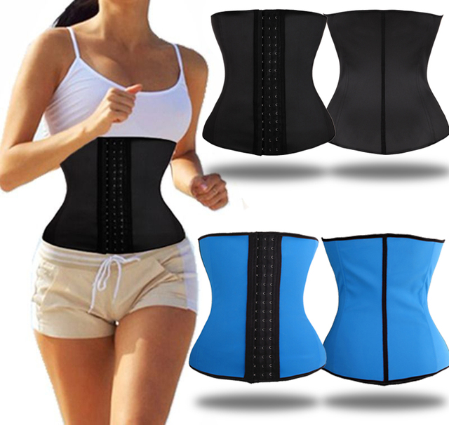 db0f11942ac Miss Moly Girdle Women Bodyshaper Latex Waist Trainer Corset Tummy Shaper  Slimming Steel Boned Belt Modeling Strap Faja