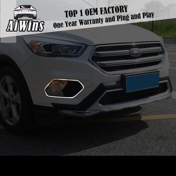 FIT FOR Ford Kuga 2017-2018 FRONT and rear HEAD FOG LIGHT FOG LIGHT LAMP CHROME COVER TRIM INSERT BEZEL FRAME STYLING GARNISH