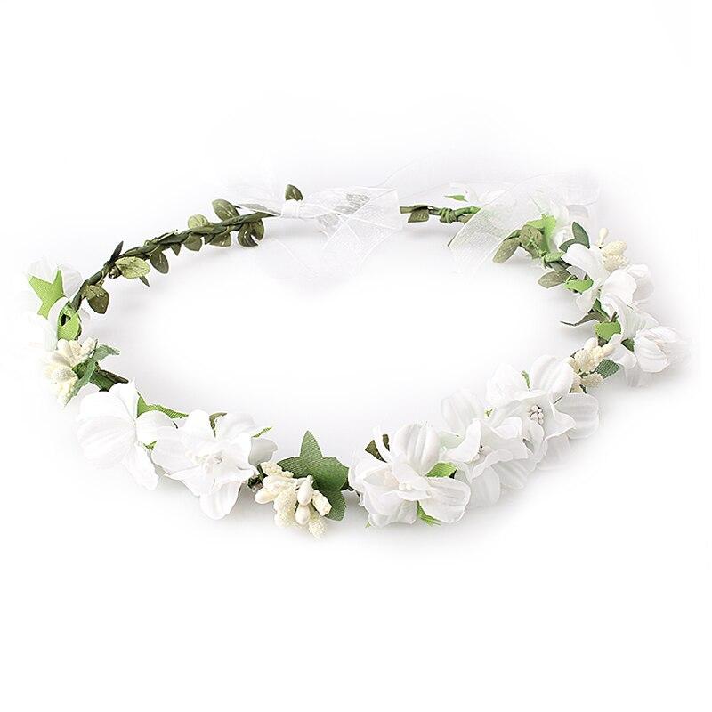 M Mism Summer Wedding Floral Crown Head Band Female Flower
