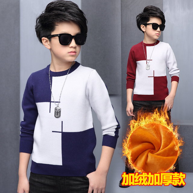 2016 Autumn New Baby Boys Sweaters Striped Cotton Pullover Kids Boys Knitted Sweater for 5-16Y Girls Boys Cardigan Wholesale