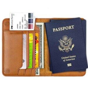 Image 2 - قسط جلد طبيعي حامل جواز سفر غطاء جواز سفر روسيا وثائق محفظة سفر
