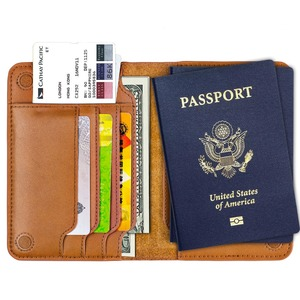 Image 2 - Premium Genuine Leather Passport Holder Passport Cover Russia Case for documents Travel Wallet